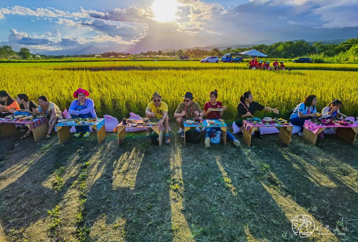餐桌上的部落旅行!織羅部落稻田腳印餐桌